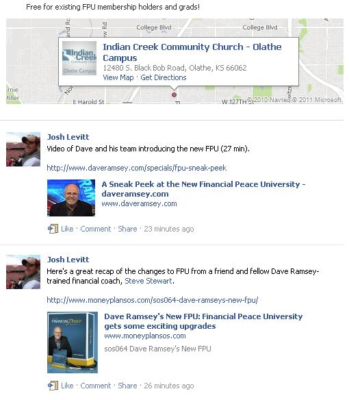 Indian Creek Church's FPU Facebook Event Page