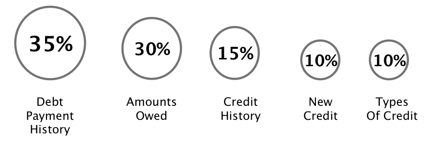 Components of a FICO score
