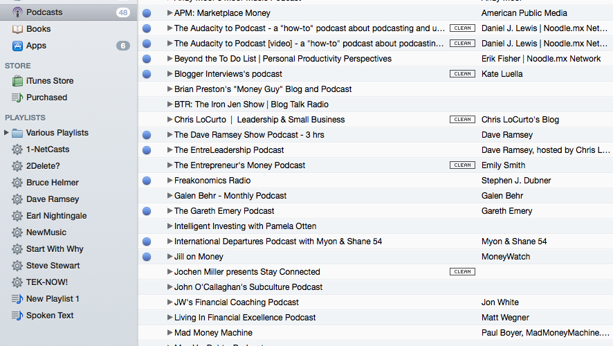 So many podcasts, so little time